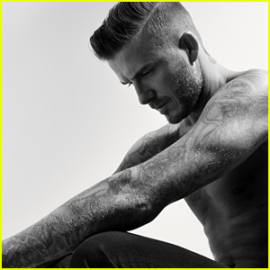 David Beckham Goes Shirtless, Admits Taking Clothes Off For Photos Gets Him Self-Conscious