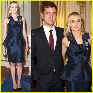 Diane Kruger Receives Medallion from Ministry of Culture with Joshua Jackson By