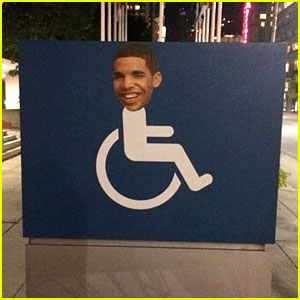 Drake's Face on Wheelchair Signs is a New Trend in Toronto!