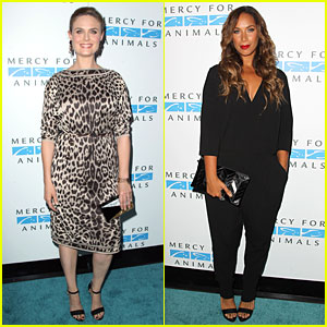 Emily Deschanel & Leona Lewis Fight For Animal Rights at Mercy For Animals Gala