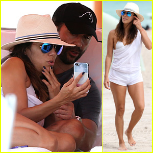 Eva Longoria Cozies Up to Boyfriend Jose Antonio Baston During Miami Beach Getaway