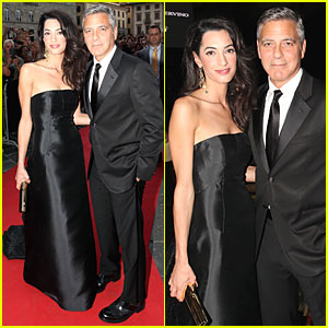 George Clooney & Fiancee Amal Alamuddin Make Red Carpet Debut in Italy