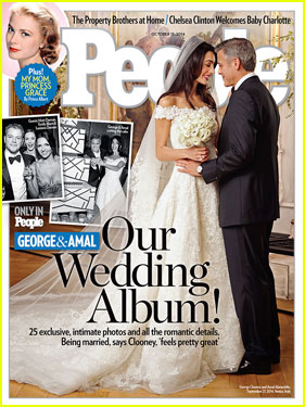 George Clooney & Amal Alamuddin's First Wedding Photo!