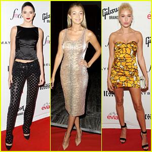Kendall Jenner & Gigi Hadid Glam Up for Fashion Media Awards
