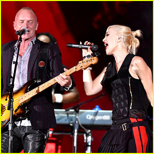 Gwen Stefani Performs with Sting at Global Citizen Festival 2014