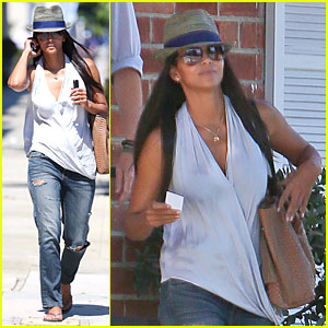 Halle Berry Looks Unrecognizable Wearing Long