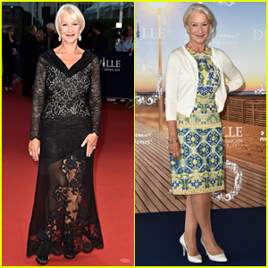 Helen Mirren Goes for Sexy in Sheer Lace at 'Hundred Foot Journey' French Premiere