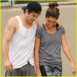 Ian Somerhalder & Nikki Reed Share Some Post-Workout Laugh