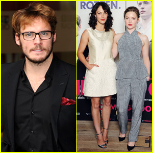 Sam Claflin & Jessica Brown Findlay 'Riot' in London