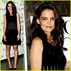 Katie Holmes Wears Her LBD for 'DuJour' Cover Celebration