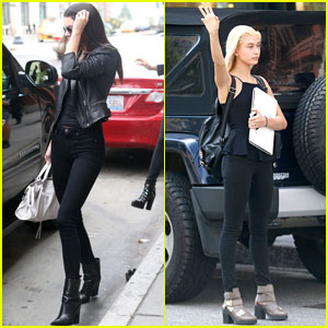 Kendall Jenner & Hailey Baldwin Keep Fashionable in NYC!