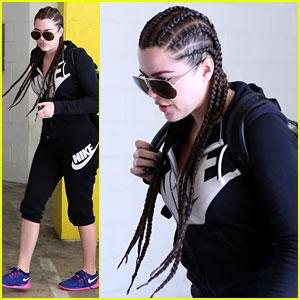 Khloe Kardashian Shows Off Her New Cornrows!