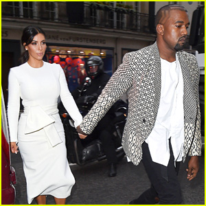 Kim Kardashian & Kanye West Hold Hands for London Date