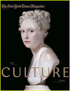 Lena Dunham Transforms Into a Statue for 'NYT Magazine'