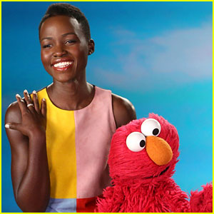 Lupita Nyong'o Tickles Elmo for New 'Sesame Street' Clip About Loving Your Own Skin