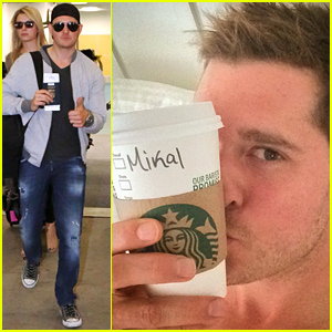 Michael Buble Shares a Shirtless Morning Selfie as 'Mikal'