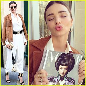 Miranda Kerr Celebrates Her 'Vogue Japan' Cover During Paris Fashion Week!