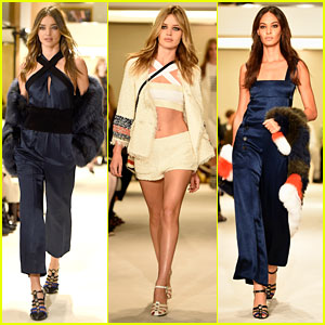 Miranda Kerr & Joan Smalls Hit the Paris Runway for Sonia Rykiel Fashion Show