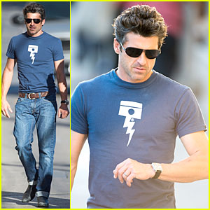 Patrick Dempsey Giggles After Seeing Himself As Knit Man - Watch Now!