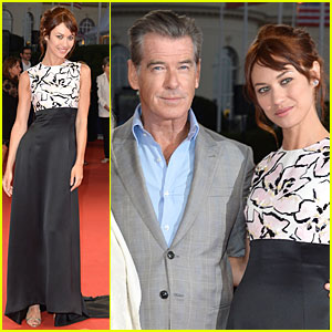 Pierce Brosnan & Olga Kurylenko Are Red Carpet Ready at 'November Man' Deauville Premiere