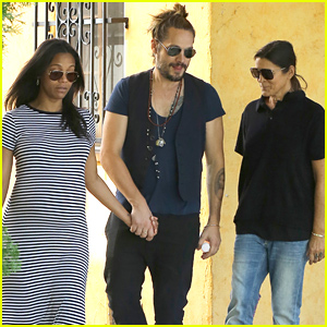 Pregnant Zoe Saldana & Marco Perego Spend Time with His Mom!