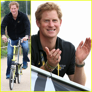 Prince Harry Bikes Between Venues During Invictus Games 2014
