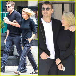 Sam Worthington & Girlfriend Lara Bingle Get Cozy in NYC!