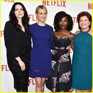 Taylor Schilling & Laura Prepon Bring 'OITNB' to Netflix Launch in Paris!