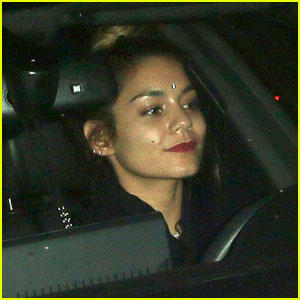 Vanessa Hudgens Wears a Bindi on Her Ride Home