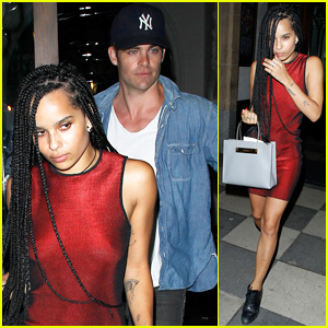 Zoe Kravitz & Chris Pine Hang Out Togethe