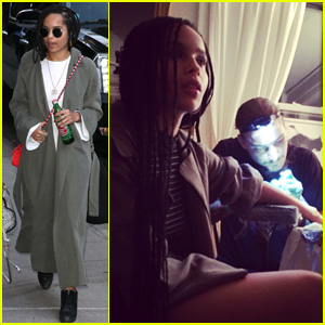 Zoe & Lenny Kravitz Get Late-Night Tattoos Together After His 'Letterman' Appearance
