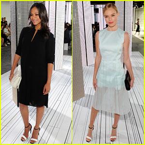 Zoe Saldana & Kate Bosworth Are Beautiful Bosses for NYFW