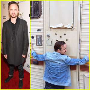 Aaron Paul Reunites with the 'Breaking Bad' Trailer - See the Pic!
