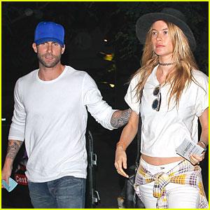 Adam Levine & Wife Behati Prinsloo Enjoy Date Night at Lakers Game