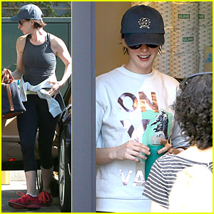 Anne Hathaway Gets Fit & Ready For 'Interstellar' Press Tour