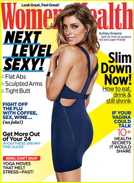 Ashley Greene Bares Her Back in a Sexy Dress on 'Women's Health' November 2014 Cover