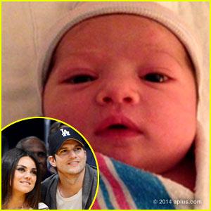 Ashton Kutcher & Mila Kunis: Baby Wyatt's First Photo Revealed!