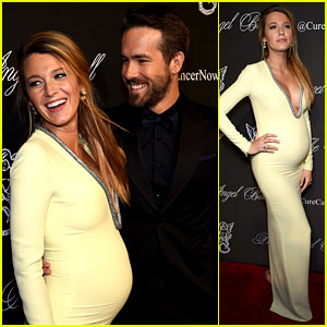 Pregnant Blake Lively Accentuates Baby Bump with a Beaming Ryan Re