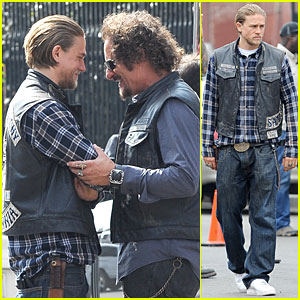Charlie Hunnam & Kim Coates Get Ready to Wrap Up 'Sons of Anarchy'
