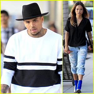 Chris Brown & Girlfriend Karrueche Tran Shop 'Til They Drop in Beverly Hills