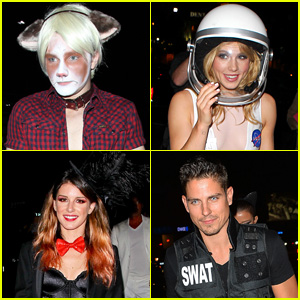 Chris Colfer is Grumpy at Matthew Morrison's Halloween Bash