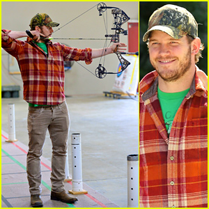 Chris Pratt Practices His Archery Skills - See the Action Shots!