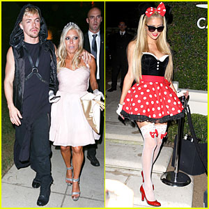 Derek Hough & Rachel Zalis Get Into Halloween Spirit at Casamigos Party