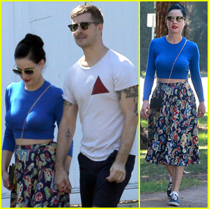 Dita Von Teese Takes Post-Birthday Stroll with Adam Rajcevich
