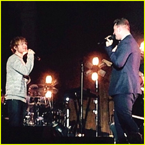 Sam Smith & Ed Sheeran Sing 'Stay With Me' In Manchester