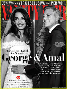George Clooney & Amal Alamuddin Reveal More Wedding Photos in 'Vanity Fair Italy'!