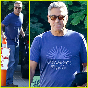 George Clooney Is Really Loving His Casamigos Tequila T-Shirt!
