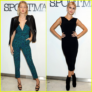 Gigi Hadid & Hailey Baldwin Buddy for 'Sportmax' in NYC