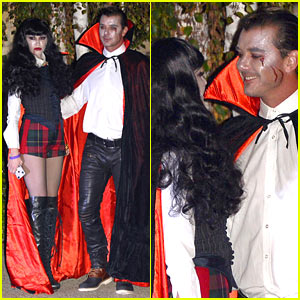 Gwen Stefani & Gavin Rossdale Vamp It Up for Halloween Party