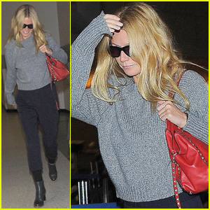 Gwyneth Paltrow Travels at LAX Airport After Ex Chris Martin